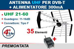 KIT ANTENNA + ALIMENTATORE
