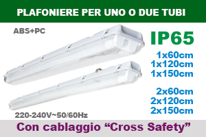 "Plafoniere per tubi con cablaggio ""Cross Safety"""